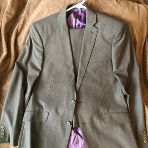 Ted Baker London Charcoal Suit 42R & 36/30 SlimFit